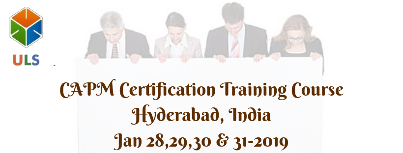 CAPM(Certified Associate in Project Management) Certification Training Course in Hyderabad,India.
