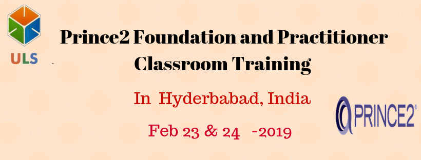 PRINCE2 Foundation & Practitioner Certification Training Course in Hyderabad, India