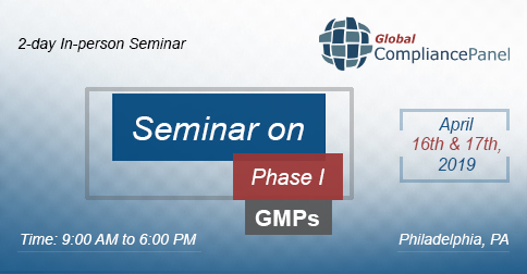 Seminar on Phase I GMPs | Drug Development Course
