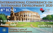 ICSD 2020 : 8th International Conference on Sustainable Development, 9 – 10 September 2020 Rome, Italy