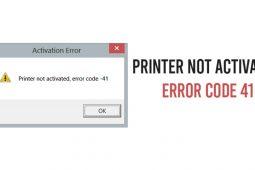 Printer Not Activated Error Code 41